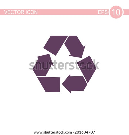 Recycle sign vector icon. - stock vector