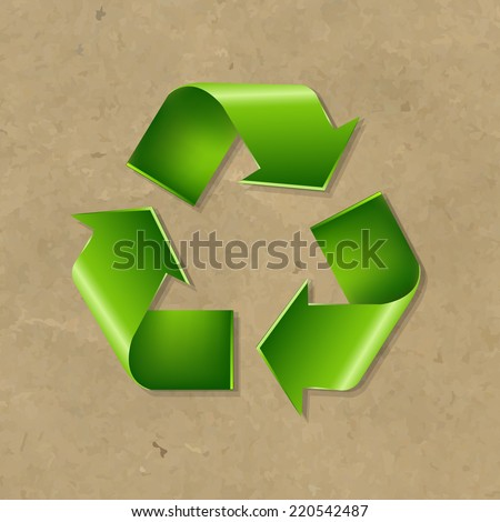 Recycle Symbol With Gradient Mesh, Vector Illustration - stock vector