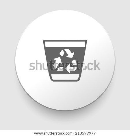 recycle trash can vector illustration on white - stock vector