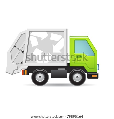 Recycle truck icon - stock vector