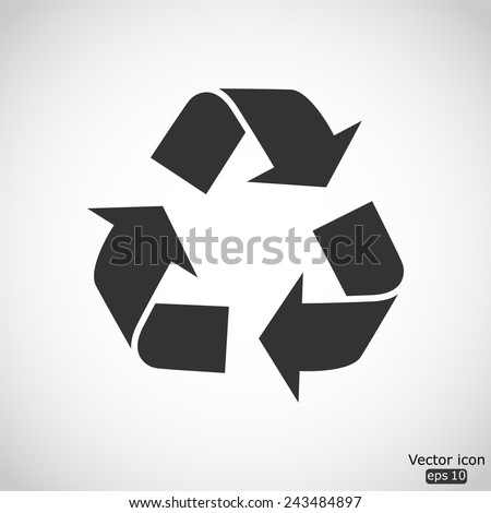 recycle vector icon - stock vector