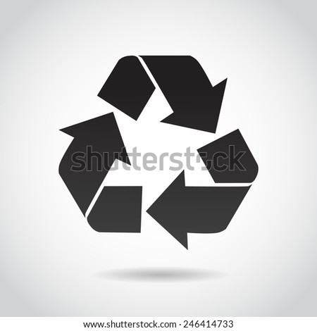 Recycling icon isolated on white background. Vector illustration. - stock vector
