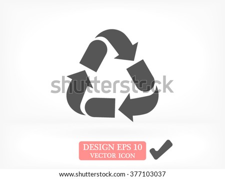 Recycling icon, recycling icon eps 10, recycling icon vector, recycling icon illustration, recycling icon jpg, recycling icon picture, recycling icon flat, recycling icon design, recycling icon web - stock vector