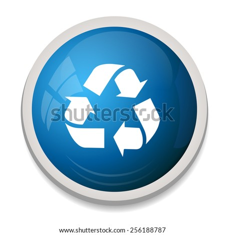Recycling sign icon. Reuse button, reduce symbol - stock vector