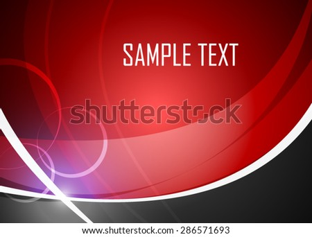 Red abstract background - stock vector