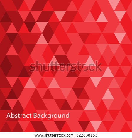 Red abstract background. Pink template. Geometric backdrop. Polygonal crystal texture. Triangular shape.  - stock vector