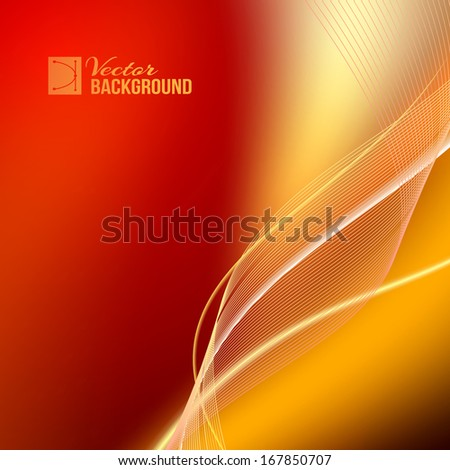 Red abstract background. Vector illustration. - stock vector
