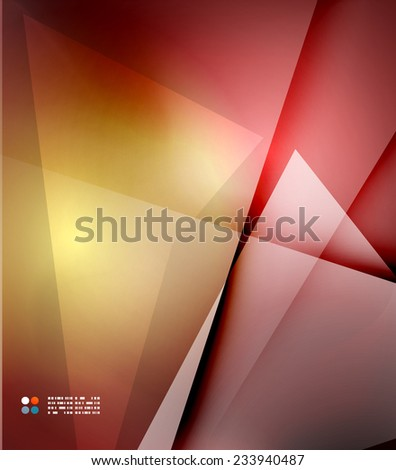Red abstract lines background, modern template - stock vector