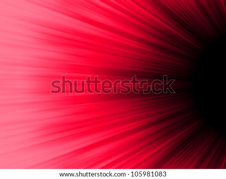 Red and black luminous rays. EPS 8 vector file included - stock vector