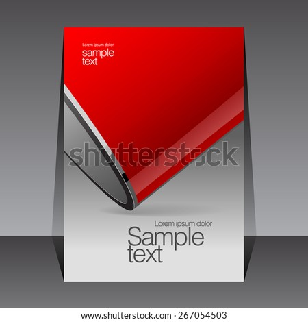 red and gray design template covers for books, booklets - stock vector