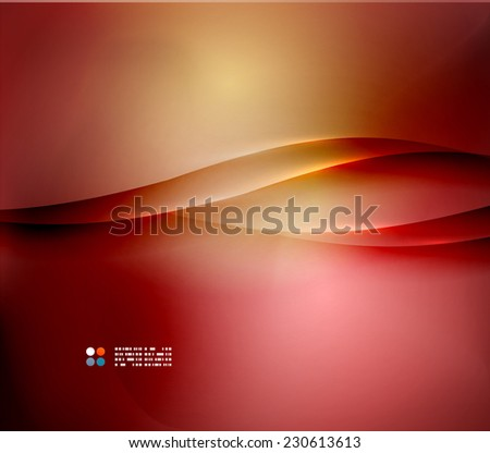 Red and orange abstract blurred color background, hi-tech template - stock vector