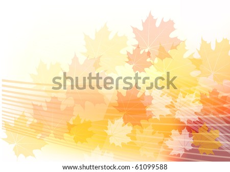 red and orange autumn theme - stock vector
