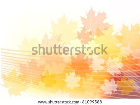 red and orange autumn theme - stock vector