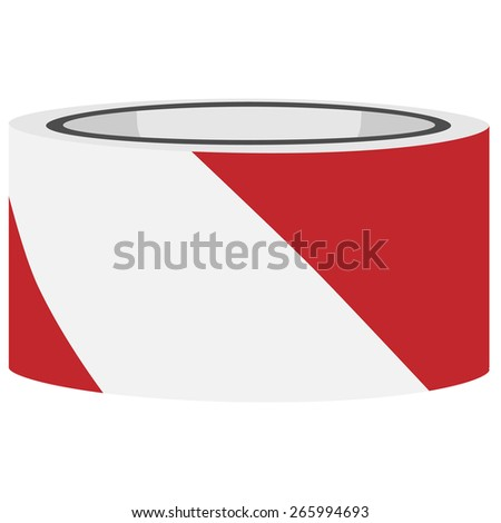 Red and white danger tape vector, caution tape, police tape - stock vector