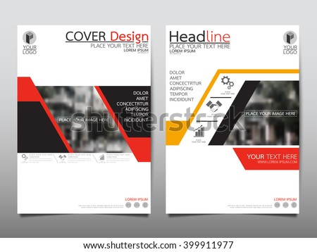 Red annual report brochure flyer design template vector, Leaflet cover presentation abstract flat background, layout in A4 size - stock vector