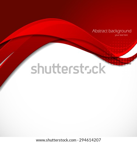 Red background in abstract material design style - stock vector