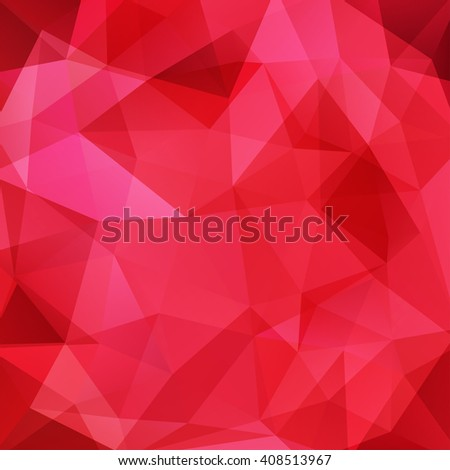 Red background made of triangles. Square composition with geometric shapes. Eps 10 Red color.  - stock vector