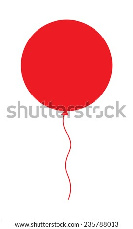 Red Balloon Shape - stock vector