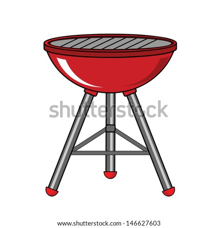 Red Barbecue  - stock vector