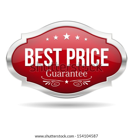 Red best price shield - stock vector