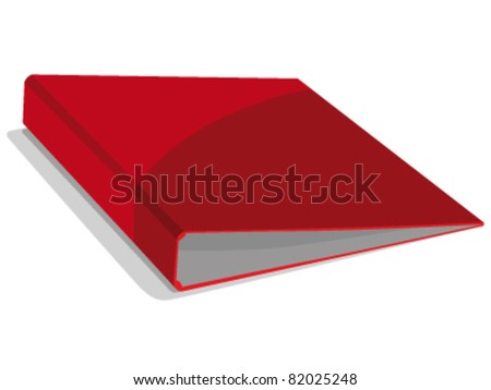 red binder - stock vector