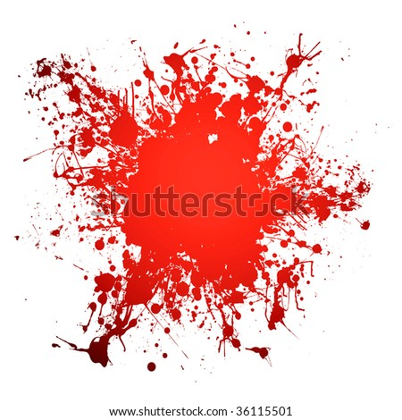 Red blood ink splat with room to add your own copy - stock vector