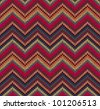 Red Blue Yellow Knit Texture , Beautiful Knitted Fabric Pattern - stock vector