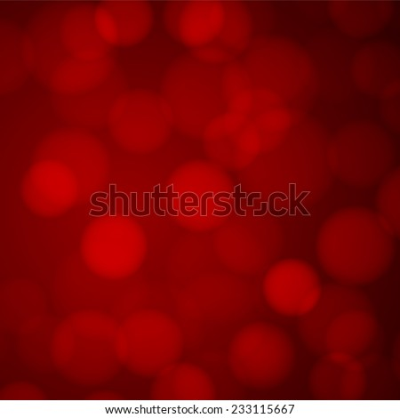 Red bokeh background with defocused lights. Vector illustration. - stock vector