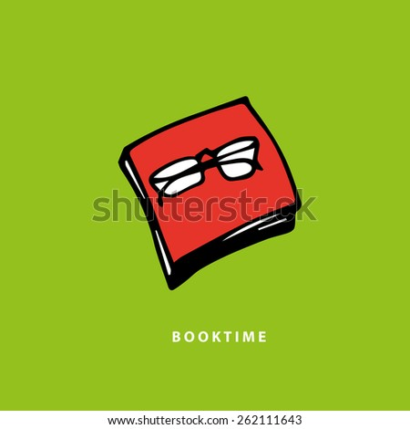 Red book icon. - stock vector