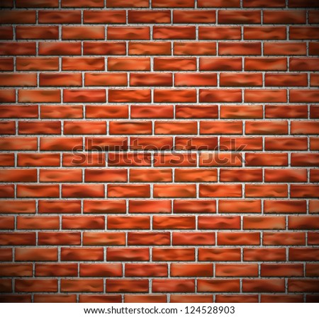 Red brick wall background. Eps 10 - stock vector