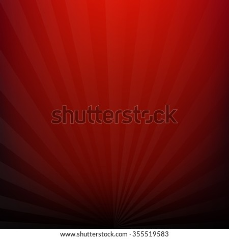 Red Burst Background With Gradient Mesh, Vector Illustration - stock vector