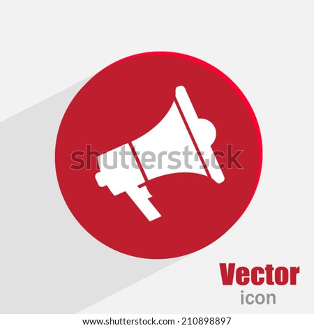 Red button on a gray background - stock vector
