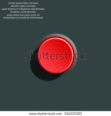Red button start, stop. icon. vector design - stock vector