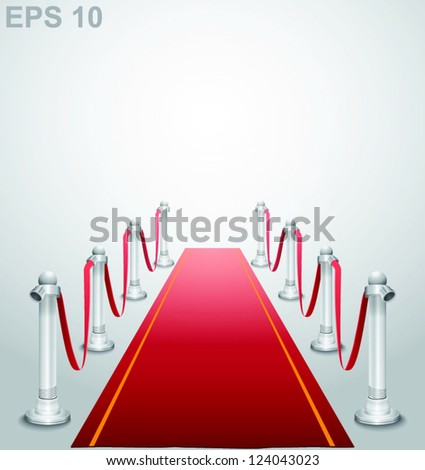 Red carpet. Vector illustration - stock vector