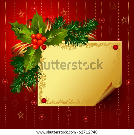 red Christmas backdrop - stock vector