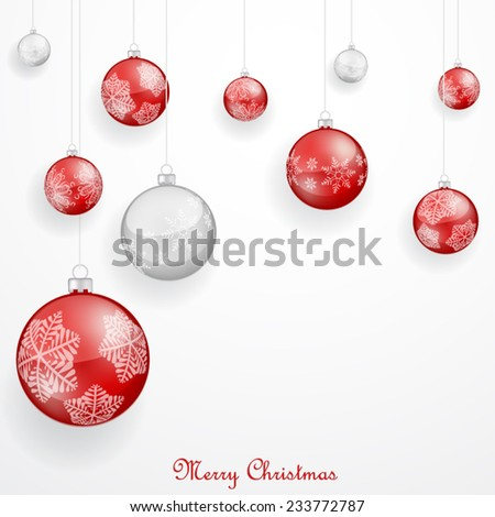 Red Christmas ornaments - stock vector