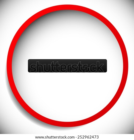 Red circle sign, road sign for prohibition, restriction concepts, also for ban, banning, do not enter, prevention or no entrance concepts. - stock vector