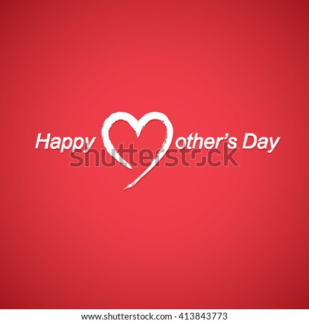 red color background design for Mother's day - stock vector