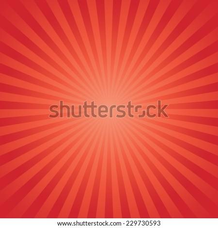 red color burst background. Vector illustration - stock vector
