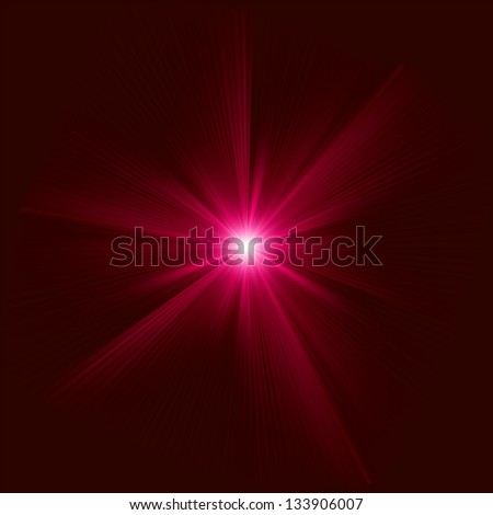 Red color design with a burst. EPS 8 vector file included - stock vector