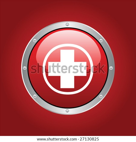 red cross - stock vector
