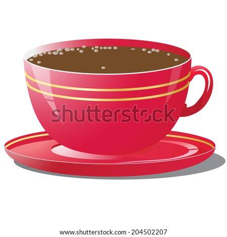 Red cup - stock vector