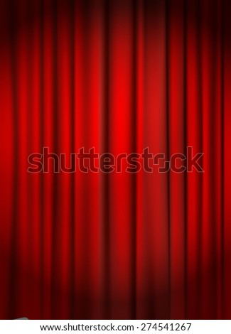 red curtain background vector illustration - stock vector
