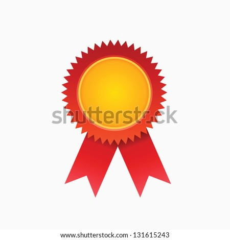 Red diploma - stock vector