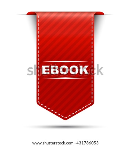Red easy vector illustration isolated ribbon banner ebook. This element is well adapted to web design. - stock vector