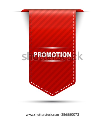 Red easy vector illustration isolated ribbon banner promotion. This element is well adapted to web design. - stock vector