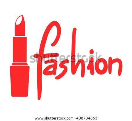 red fashion symbol - stock vector