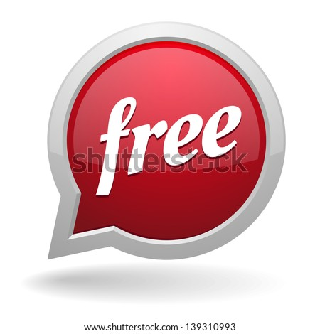Red free speech bubble - stock vector