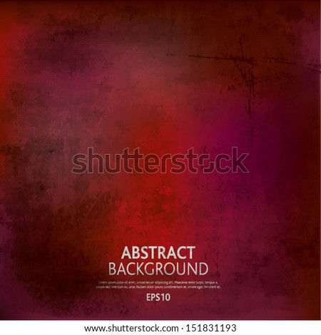 Red Grunge background - stock vector