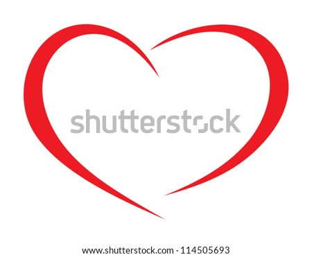 Red heart vector - stock vector